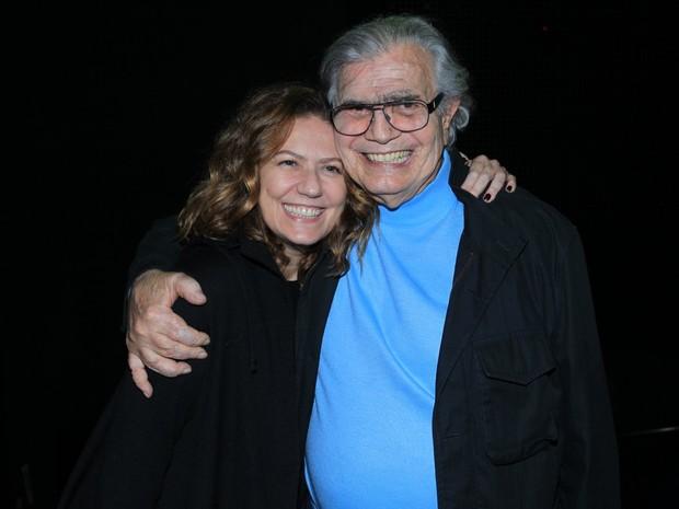 Patrícia Pillar e Tarcísio Meira em estreia de peça na Zona Sul do Rio (Foto: Marcello Sá Barretto/ Ag. News)