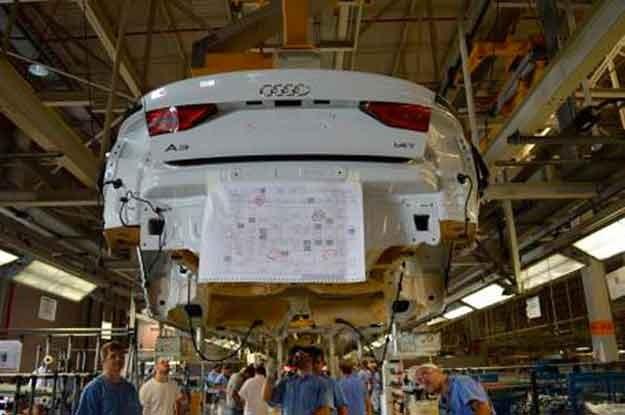Audi A3 Sedan sendo montado na fábrica de São José dos Pinhais (PR) (Foto: Reprodução)