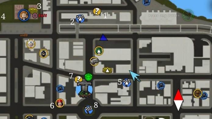 Procure por ícones de personagens e veículos para desbloqueá-los (Foto: ps3trophies.com)