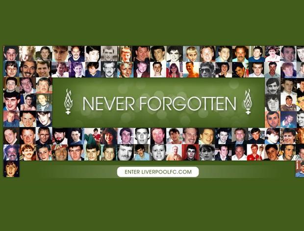 liverpool site tributo à Tragédia de Hillsborough (Foto: Reprodução)