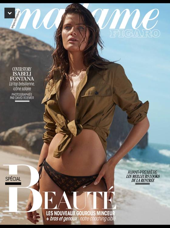 Com o corpo perfeito, Isabeli Fontana estampa de biquíni a capa da Madame Figaro (Foto: Reprodução)