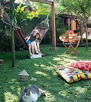 A casa da apresentadora Chris Nicklas, projetada por Sergio Rodrigues (Foto: Casa e Jardim)