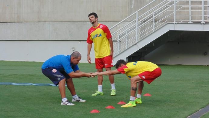Rodrigo Pimpão e Márcio Passos - América-RN (Foto: Jocaff Souza/GloboEsporte.com)