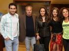 Ex de Rafael Almeida, Alinne Rosa vai a show com o ator no Rio
