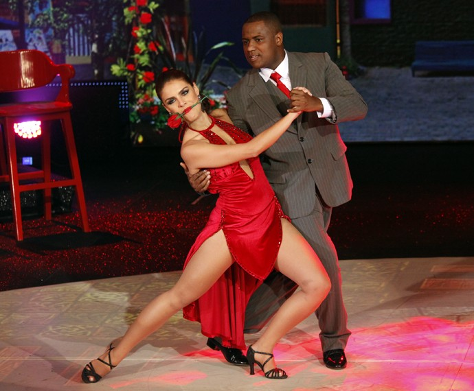 Paloma Bernardi era pura concentração durante suas apresentações (Foto: Arthur Seixas / Gshow)