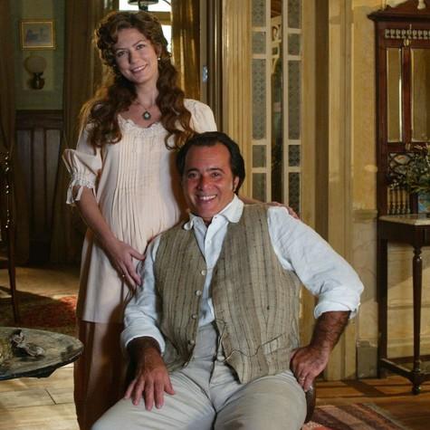 Patrícia Pillar e Tony Ramos em cena de Cabocla: parceria será reeditada (Foto: TV Globo)