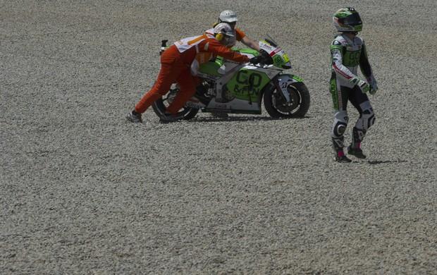 Alvaro Bautista MotoGP Catalunha queda (Foto: Agência Getty Images)