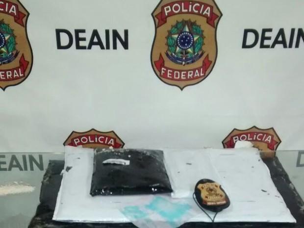 Polícia Federal apreendeu 6,4 de substância entorpecente no Galeão (Foto: Divulgação/ Polícia Federal)