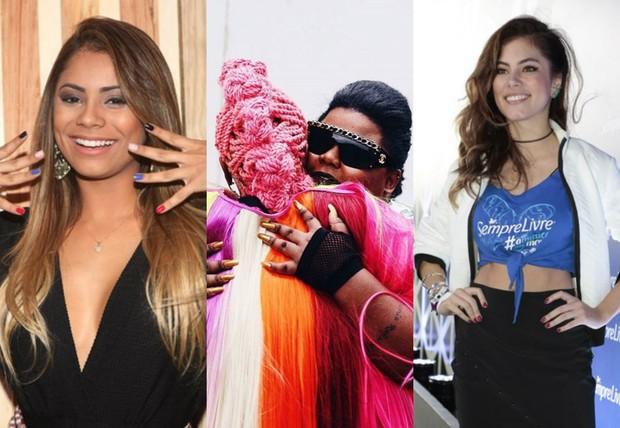 Lexa, MC Carol com Karol Conka e Bruna Hamu (Foto: Iwi Onodera/EGO | Reprodução Instagram |  Manuela Scarpa e Rafael Cusato/Brazil News)