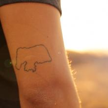 Tatuagem do Leo Souza (Foto: Sérgio Luis)