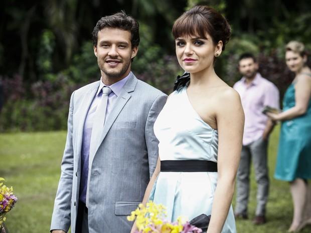 Ricardo e Cidinha, ou melhor, Scarlett realmente nasceram um para o outro (Foto: Raphael Dias/ Gshow)