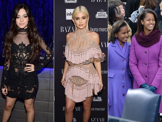 Camila Cabello, Kylie Jenner, Sasha e  Malia Obama (Foto: Frazer Harrison/ Getty Images/ AFP   Dimitrios Kambouris/ Getty Images/ AFP   AFP)