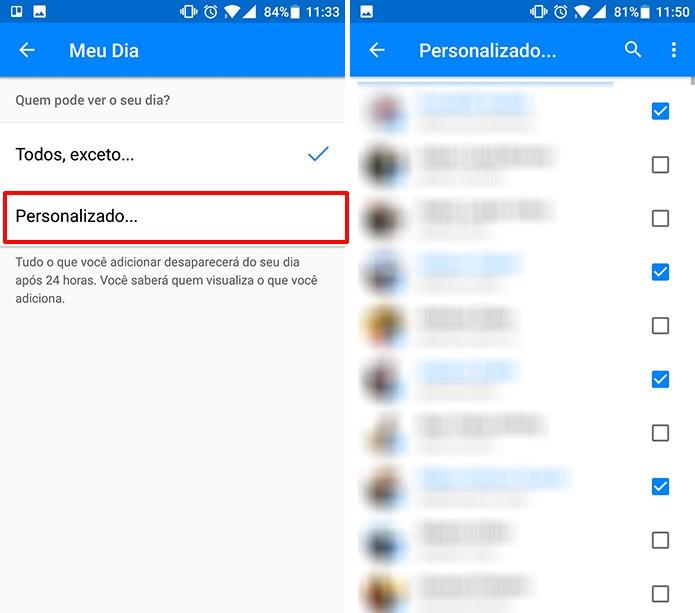 Escolha apenas os contatos que podem ver seu Messenger Day (Foto: Reprodução/Elson de Souza)