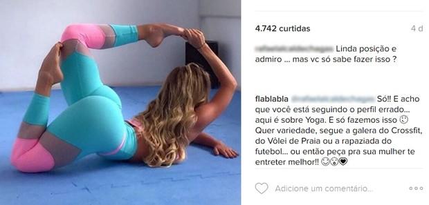 Flavia Botega, a filha gata de Nelson Rubens, dá fora em seguidor (Foto: Reprodução/Instagram)