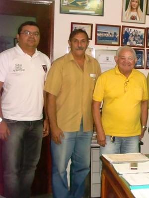 Paulo Romano, Juarez Scotta e Cardoso - Federação Paraense de Futebol (Foto: Divulgação)