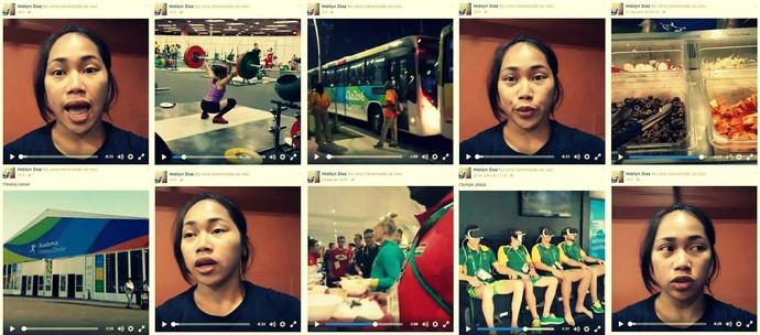 Hidilyn Diaz levantamento de peso Filipnas Facebook (Foto: Reprodução)