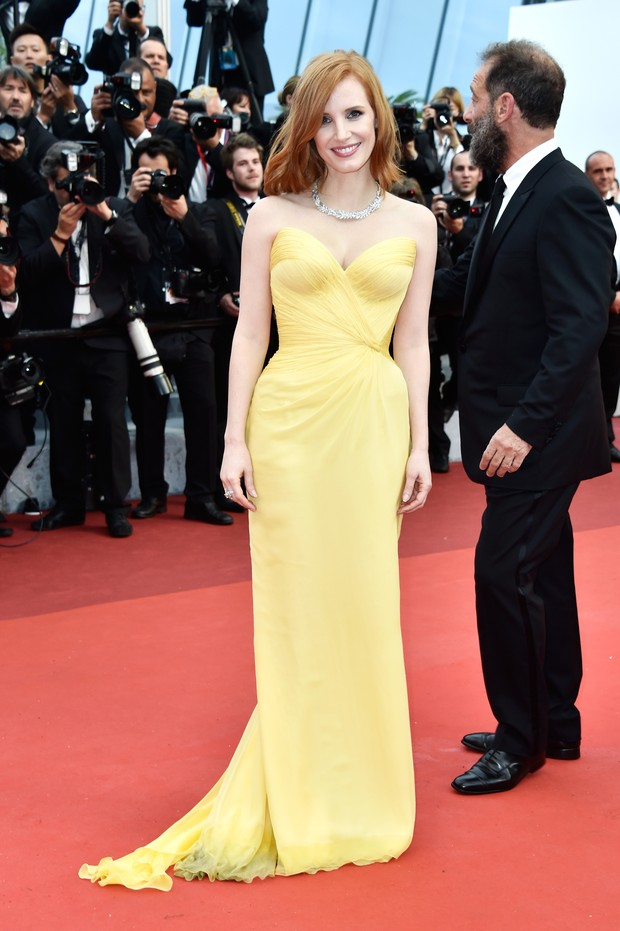 Jessica Chastain na abertura do Festival de Cannes (Foto: Getty Images)