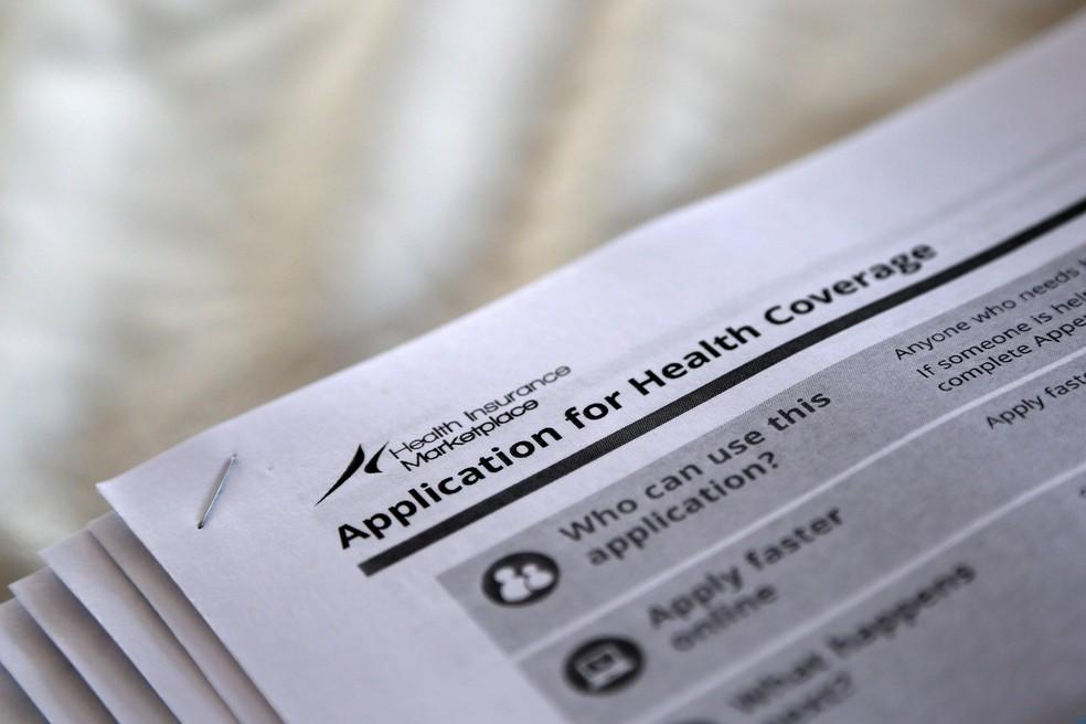 Formulário de inscrição no programa federal de seguro de saúde dos Estados Unidos, mais conhecido como