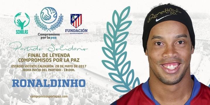 Ronaldinho Gaúcho anunciado na Final de Leyenda, despedida do Vicente Calderón