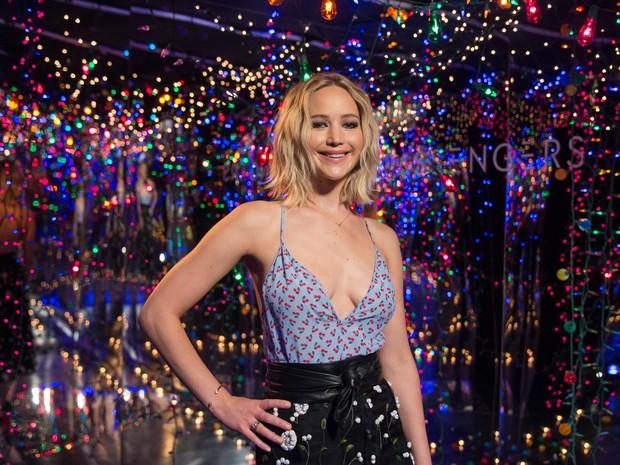 Jennifer Lawrence em sessão de fotos para divulgar filme em Los Angeles, nos Estados Unidos (Foto: Emma McIntyre/ Getty Images/ AFP)