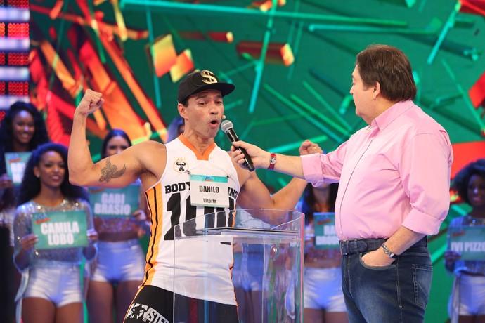Mc Bombado deu um show no 'TGA' (Foto: Carol Caminha/Gshow)