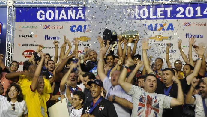 Atlético-GO, campeão goiano de 2014 (Foto: Guilherme Gonçalves/GloboEsporte.com)