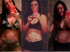 Simony fala sobre corpo: 'A barriga já está trincada. Agora é só definir o resto'