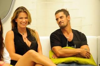 Fani e Miguel no BBB13 (Foto: João Cotta / TV Globo)
