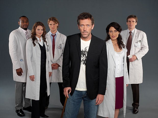 Elenco central da segunda temporada do seriado 'House' (Foto: Divulgação)