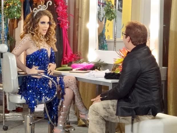 O colunista também vai falar com Chayene. Aí tem! (Foto: Cheias de Charme / TV Globo)