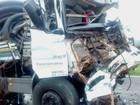 Caminhoneiro morre em colisão e rodovia é fechada em Sertãozinho, SP