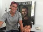Cristiano Ronaldo posa com o filho e dá feliz Dia dos Pais