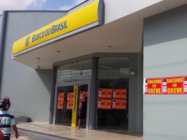 Agência do Banco do Brasil, no bairro do São Francisco (Foto: Lucas Vieira/G1)
