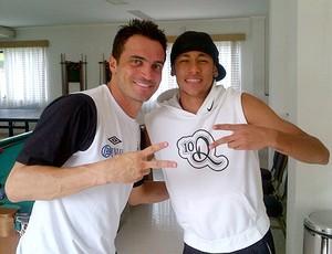 Falcão e Neymar  (Foto: Divulgação)