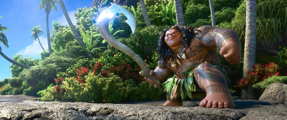 Maui em cena do filme (Foto: Divulgação)