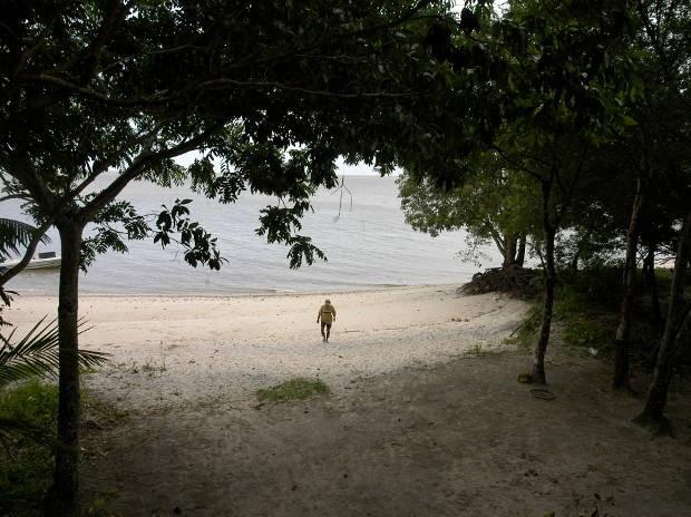 Ilha fica há cerca de 45 minutos de barco da sede de Belém e possui nas praias de água doce seu principal atrativo (Foto: Dirceu Maués / O Liberal)