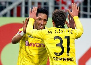 Lucas Barrios borussia dortmund gol mainz 05 (Foto: agência Reuters)
