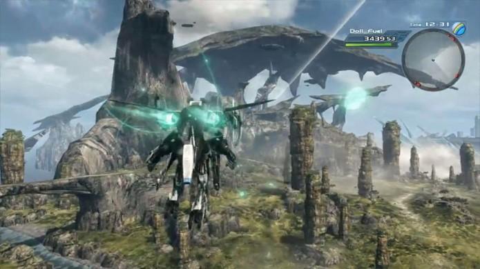 A escala do mundo de Xenoblade Chronicles X e sua riqueza de detalhes é impressionante para o Nintendo Wii U (Foto: Reprodução/Gear Nuke)