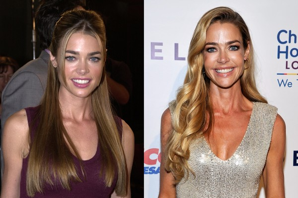 Denise Richards em 2001 e em 2014 (Foto: Getty Images)