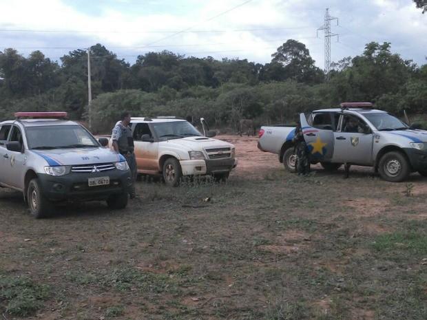 Polícia apreende veículo usado em assalto a banco em MT (Foto: Divulgação/PM-MT)