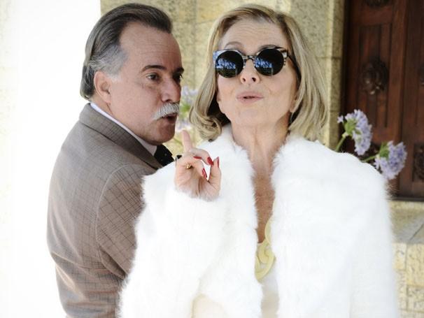 Tony Ramos e Irene Ravache serão primos que se odeiam, em Guerra dos Sexos (Foto: Divulgação/TV Globo)