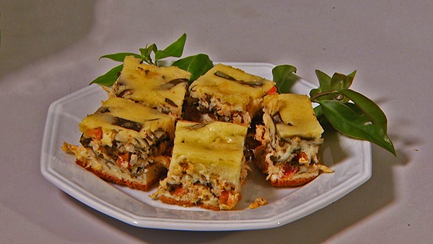 Torta de ora-pro-nóbis (Foto: Marcio de Campos)