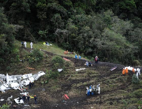 Local do desastre de avião que vitimou a Chapecoense (Foto: Mauricio Builes/ÉPOCA)