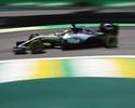 Sob forte sol, Hamilton abre treinos livres na frente no Brasil; Massa é 8º