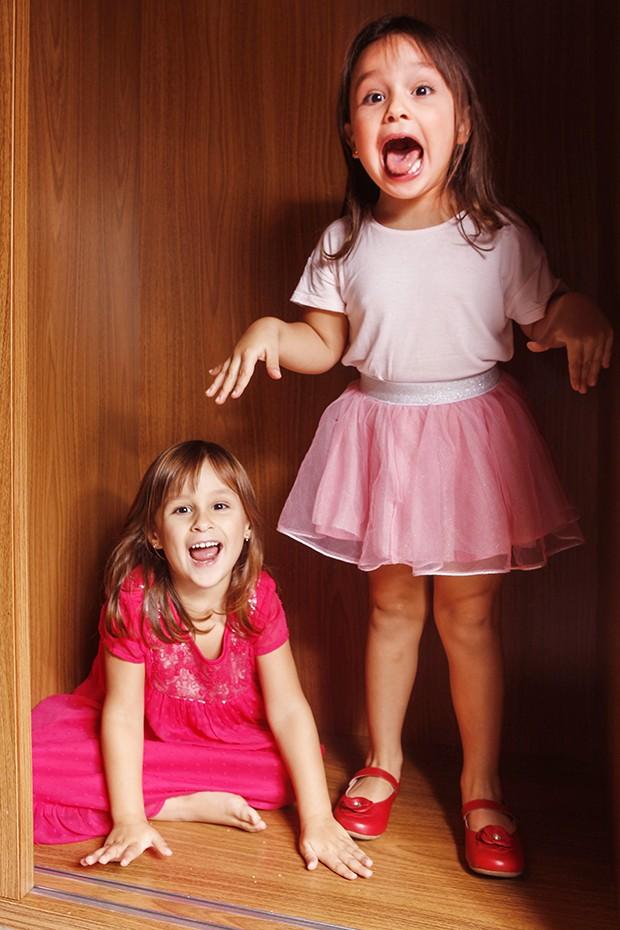 Maya e Kiara, filhas de Natália Guimarães (Foto: Flare Fotografia/ Ed. Globo)