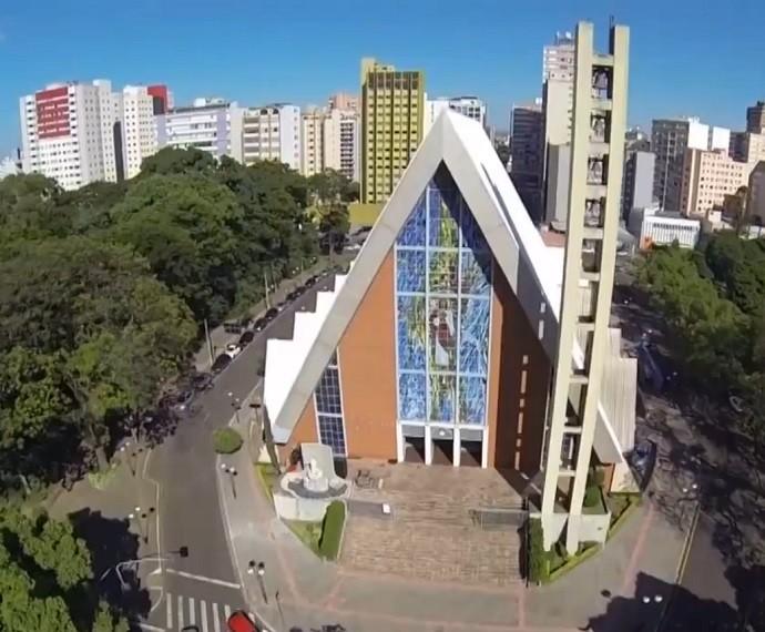 Londrina ganha homenagem no 'Telão do Domingão' (Foto: TV Globo)