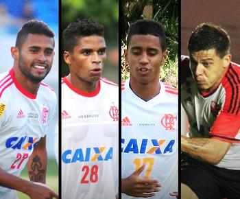 Carrossel jogadores Flamengo (Foto: GloboEsporte.com)