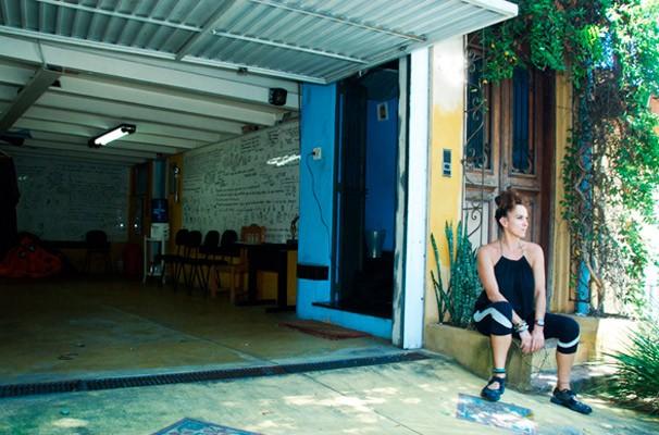 Anette Naiman em sua casa, no Bairro Siciliano/Lapa (Foto: Katia Lombardo)