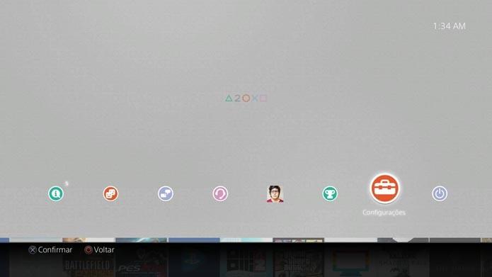 PlayStation 4: aprenda a configurar e usar a nova função Suspender (Foto: Reprodução/Murilo Molina)