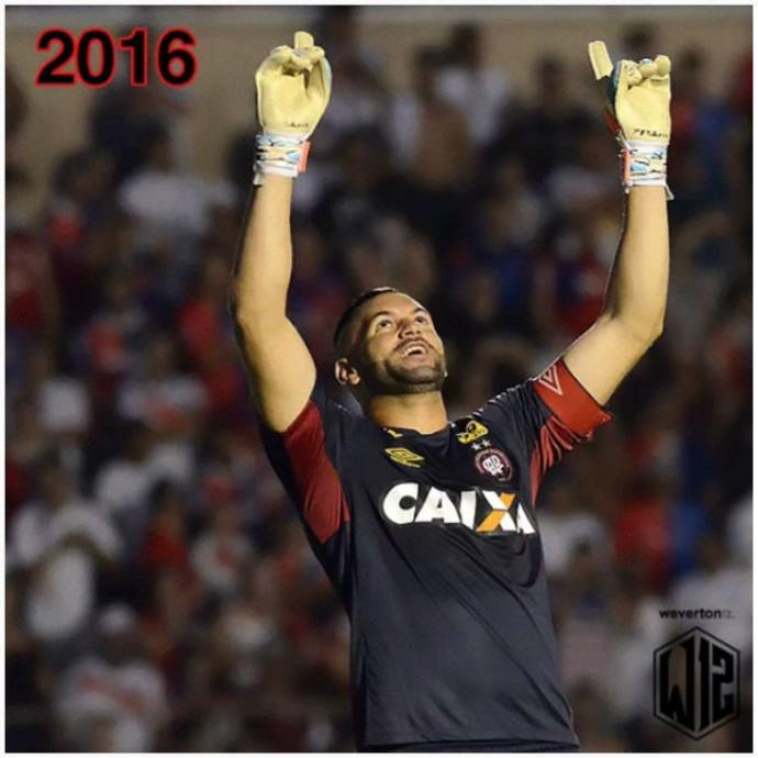 Goleiro Weverton do Atlético-PR 2016 (Foto: Reprodução/Instagram)